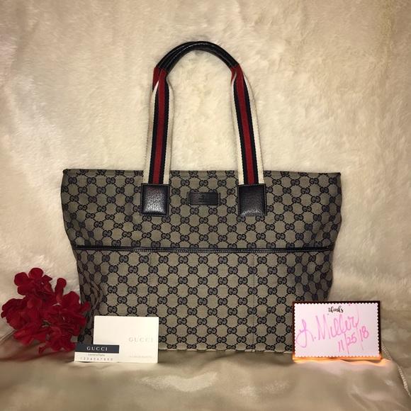 05b8bdbe065d1e Gucci Bags | Monogram Canvas Tote Bag | Poshmark